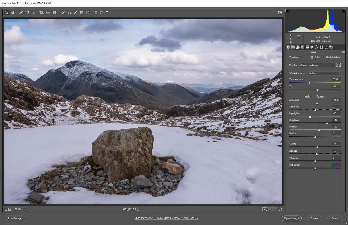 Image Processing Workflow | Adobe Camera Raw adjustments