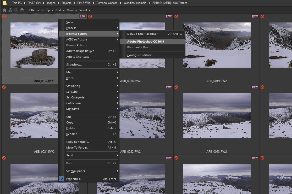 Image Processing Workflow | Open Photoshop as external editor