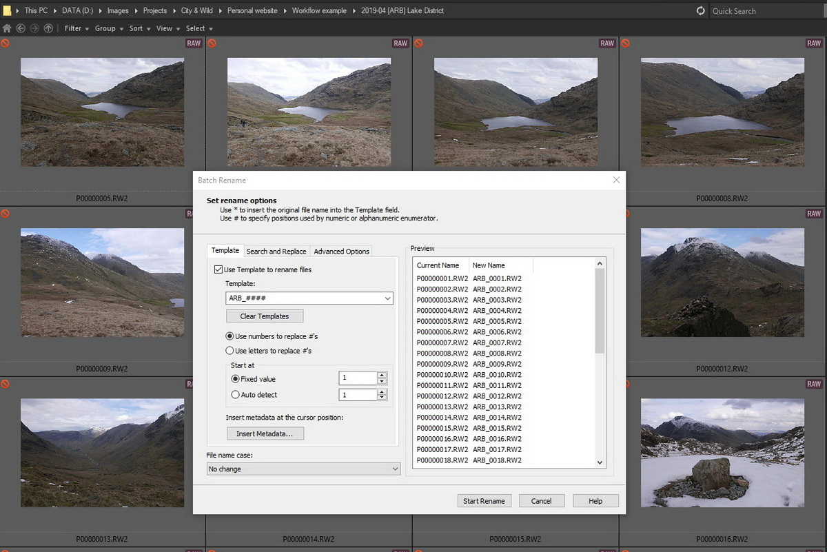 Image Processing Workflow | ACDSee batch rename