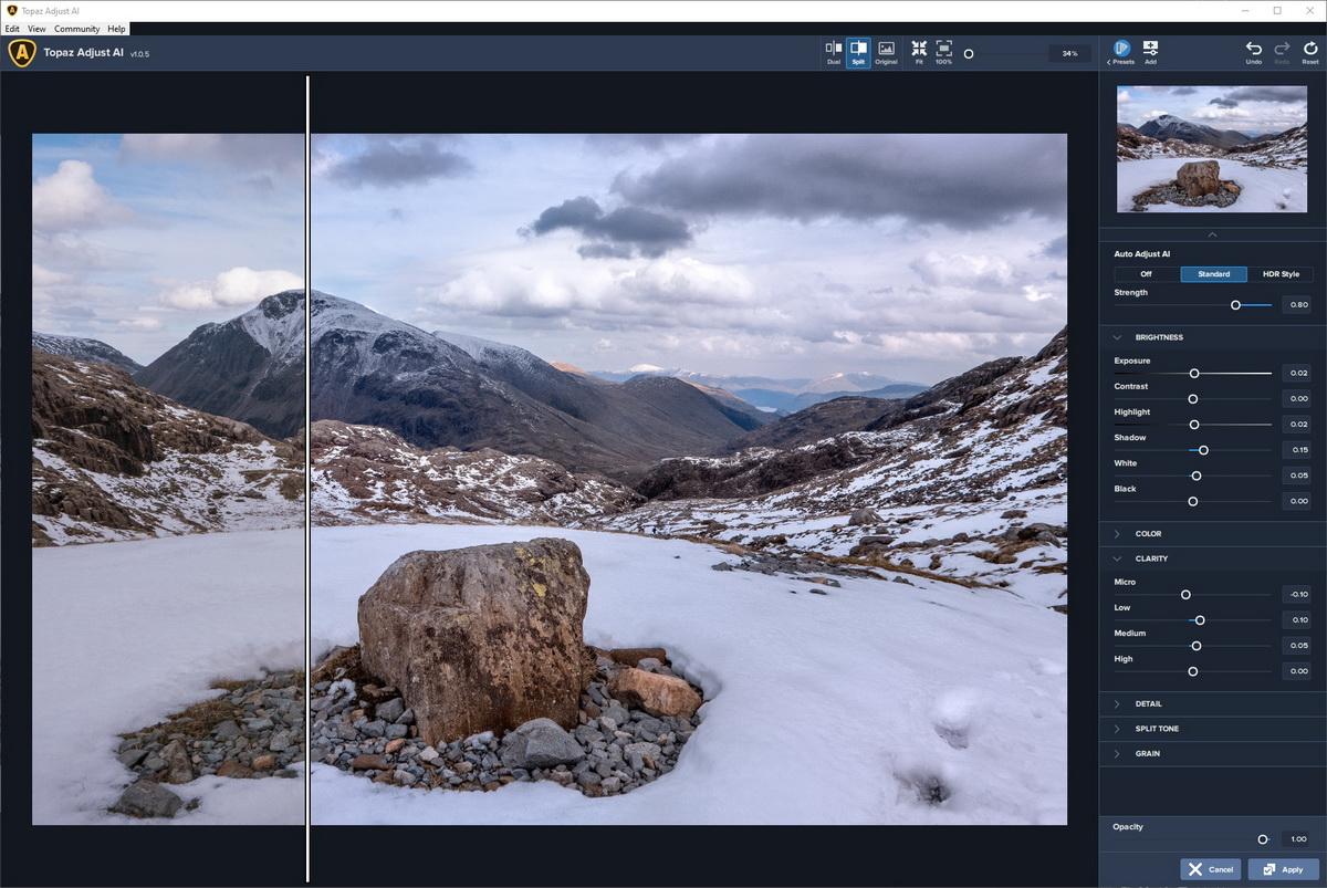 Image Processing Workflow | Topaz Adjust AI adjustments