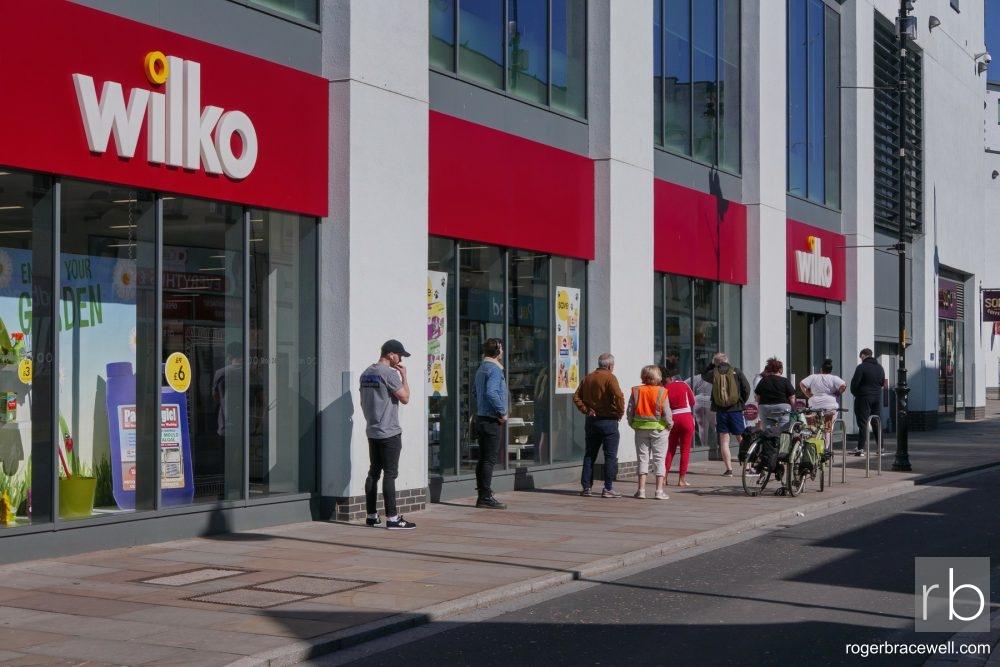 Queue outside Wilko in High Street | Cheltenham | April 2020